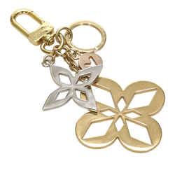 Vintage Authentic Louis Vuitton Gold Brass Metal Monogram Key Chain France