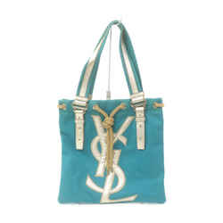 Yves Saint Laurent Blue Kahala YSL Logo Tote 863449