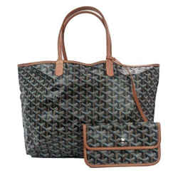 Goyard Black Brown Saint Goyardine Louis PM Tote