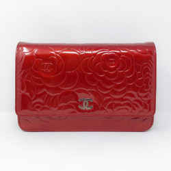 Chanel Camelia Patent Woc  Red Shw
