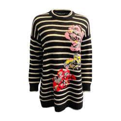 Ermanno Scervino Floral Black / White Sweater