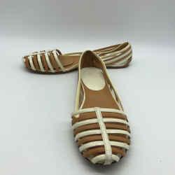 Jil Sander Tan Leather Strap Flats 11