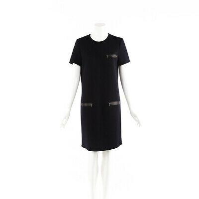 Lanvin Dress Blue Wool Knee Length Shift SZ 40