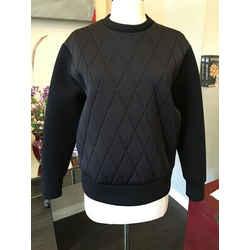 Neil Barrett Sz S Black Diamond Scuba Sweatshirt