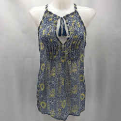 Joie Blue Sheer Tank Large