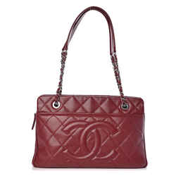 Chanel Dark Red Burgundy Soft Caviar Timeless Shopper Tote 20CK1220