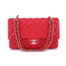 NIB 19B Chanel Red Caviar Medium Classic Double Flap Bag GHW