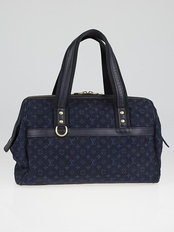 Louis Vuitton Navy Blue Monogram Mini Lin Josephine Gm Speedy Leprix