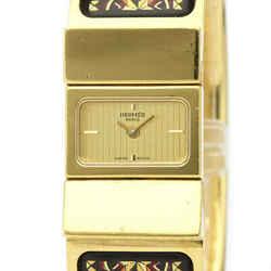 HERMES Loque Gold Plated Quartz Ladies Watch LO1.201 BF525198