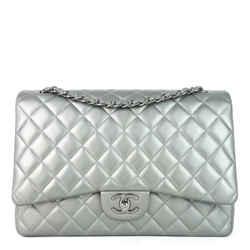 Classic Double Flap Maxi Lambskin Leather Bag