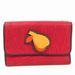 Miu Miu Women's Leather Middle Wallet (tri-fold) Black,Red Color BF528101