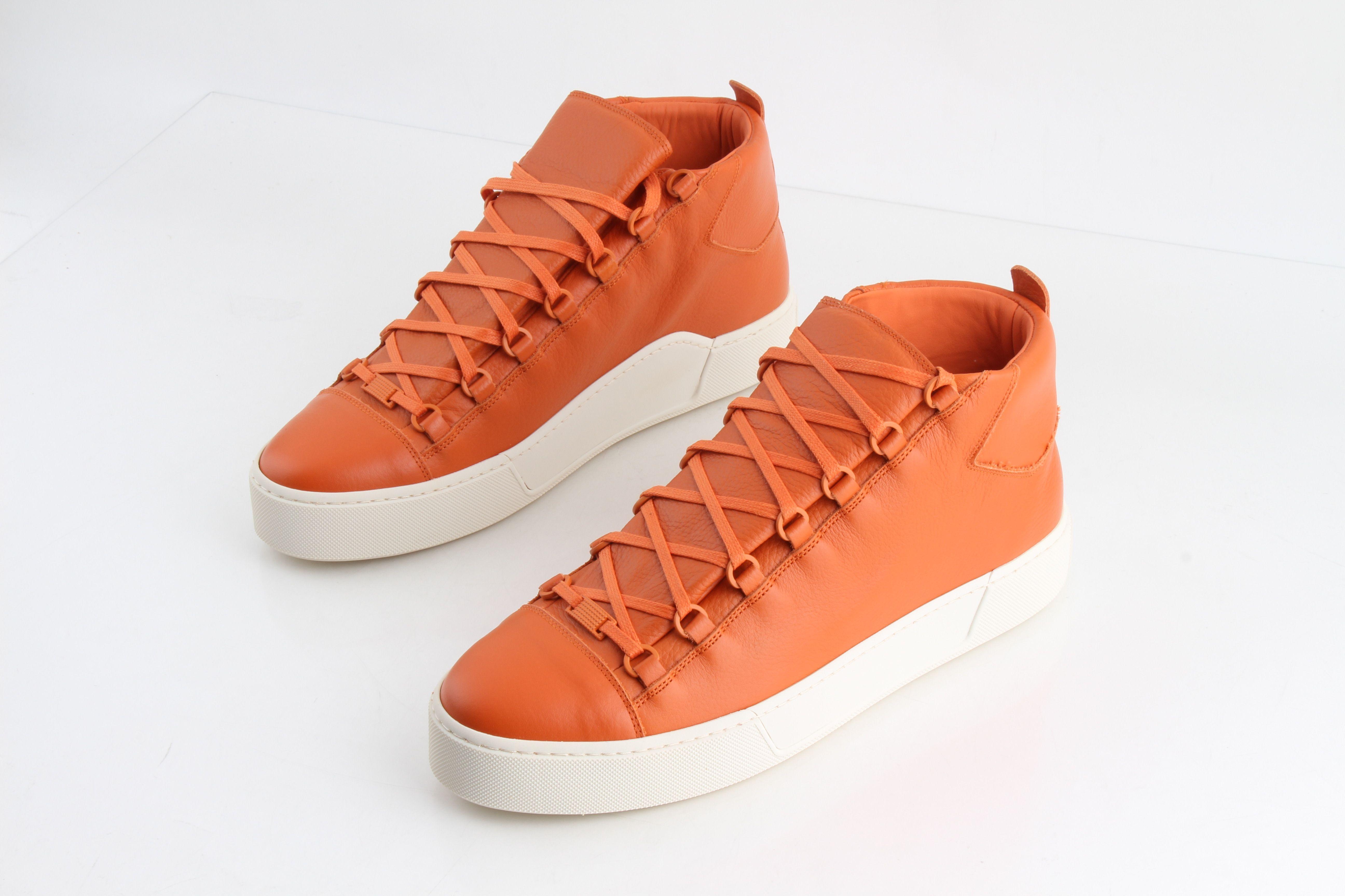 Balenciaga Orange Thick-Sole Grained