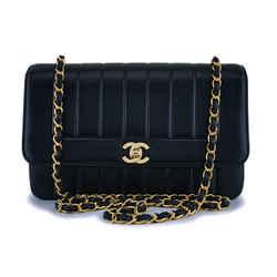 Chanel Vintage Black Lambskin Mademoiselle Flap Bag 24k Ghw