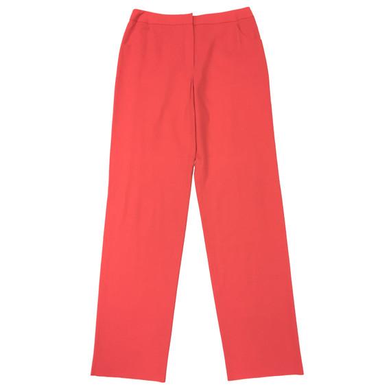 GIORGIO ARMANI Coral-Red Cotton Straight-Leg Pants