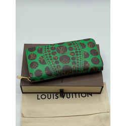 Louis Vuitton x Yayoi Kusama Pumpkin Polka Dots Monogram Zippy Long Wallet Limited Edition 7.6L x 4H