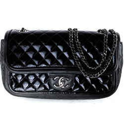 Chanel Medium Patent Lambskin Mini Quilted Classic Flap 18ca530