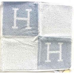 Hermes H Logo Hand Towel Blue 9herm65