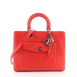 Front Pocket Lady Dior Bag Leather Large