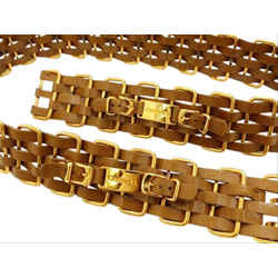 Chanel Ultra Rare Brown x Gold 5 Layer Interlaced Chain Belt 858583