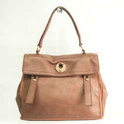 Yves Saint Laurent Muse Two 229680 Women's Leather,Canvas Handbag Brown BF520446