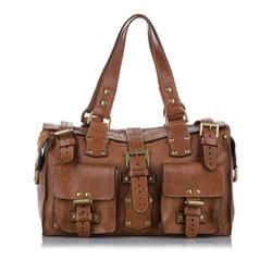 Brown Mulberry Roxanne Leather Handbag Bag