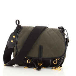 Corsaire Messenger Bag Quilted Nylon and Calfskin