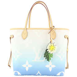 Louis Vuitton Blue Monogram By the Pool Neverfull MM Tote Bag 803lvs46
