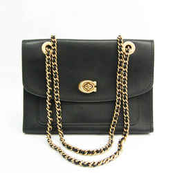 Coach Hoodie 26852 Women's Leather Shoulder Bag Black BF527858