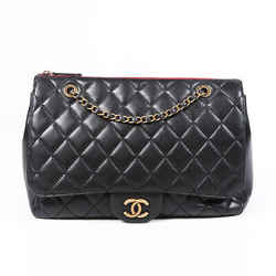 Chanel Bag Classic Flap Zip Top Jumbo Black Quilted Lambskin