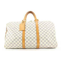 Louis Vuitton Discontinued Damier Azur Keepall 50 Duffle Bag 451lvs62