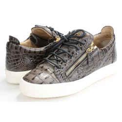 Giuseppe Zanotti Croc-embossed Low-top Sneakers