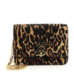 TB Flap Chain Bag Printed Calf Hair Small