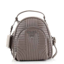 Front Pocket Backpack Diagramme Quilted Leather Small