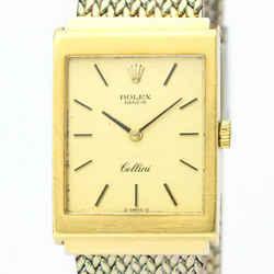 Vintage ROLEX Cellini 4014 18K Gold Steel Hand-Winding Mens Watch BF531826