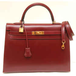 Hermes Kelly 35 Cm Sellier Rouge H Box Leather Bag