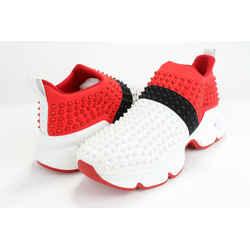 Christian Louboutin Spike-embellished Neoprene Sock Trainers