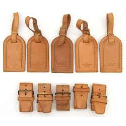 LOUIS VUITTON Leather Luggage Name ID Tag 5P Set-133