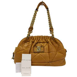 Marc Jacobs Quilted Leather Yellow Shoulder Bag