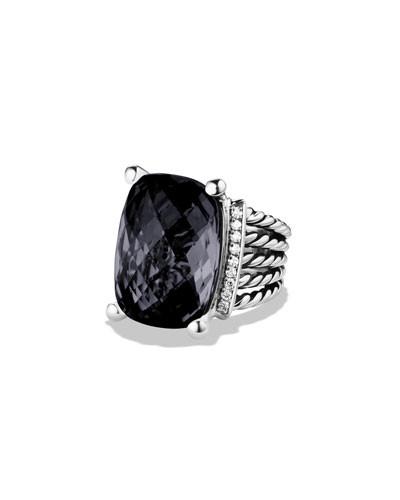 David Yurman Wheaton Onyx & Diamonds Ring Size 7