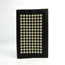 Bottega Veneta Intrecciato A5 Planner Cover Black,Cream Notebook cover  BF525488