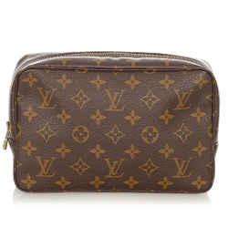 Louis Vuitton Brown Monogram Trousse Toilette 23 Pouch Bag