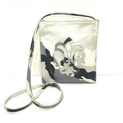 Chrome Hearts Gray Camo Crossbody Handbag With Fleur-de-lis Logo