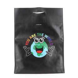 Logo Market Shopper Tote Printed Leather North South