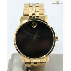 Movado 40mm Classic Gold Tone Museum Watch 07.1.36.1494