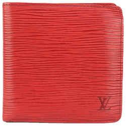 Louis Vuitton Red Epi Leather Multiple Bifold Men's Wallet 139lvs78
