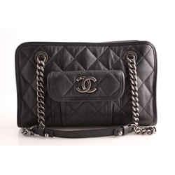 Chanel Small Zip Shopping Bag