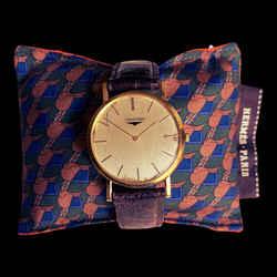 HERMES Vintage Green Saddle Cravatte Cedar Watch Pillow