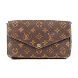 Louis Vuitton Bag Pochette Felicie Chain Wallet Monogram Coated Canvas