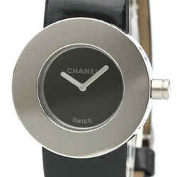 Polished CHANEL La Ronde Steel Leather Quartz Ladies Watch H0579 BF519027