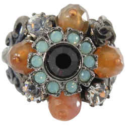 Chanel 05a Gripoix Flower Stone Ring 861806